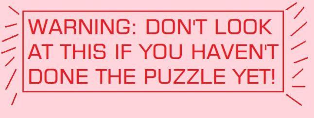 PUZZLE WARNING