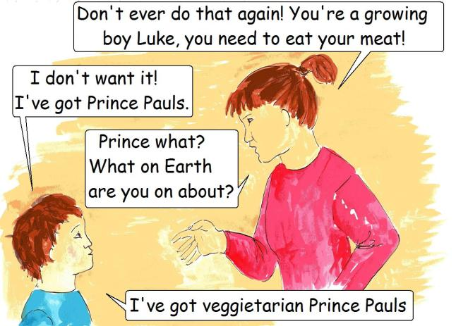 vegan comic for children