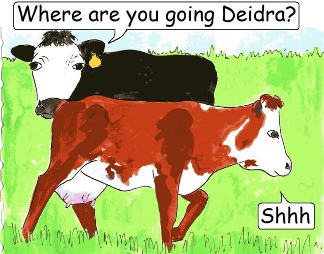 'Where are you going Deidra?' Coming soon on Violet's Veg*n e-Comics