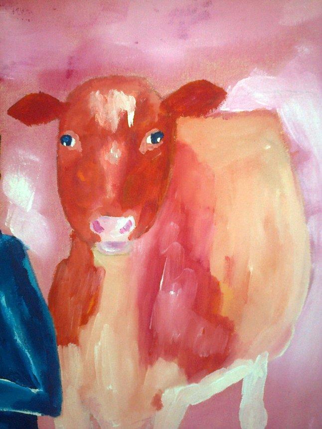 orange cow