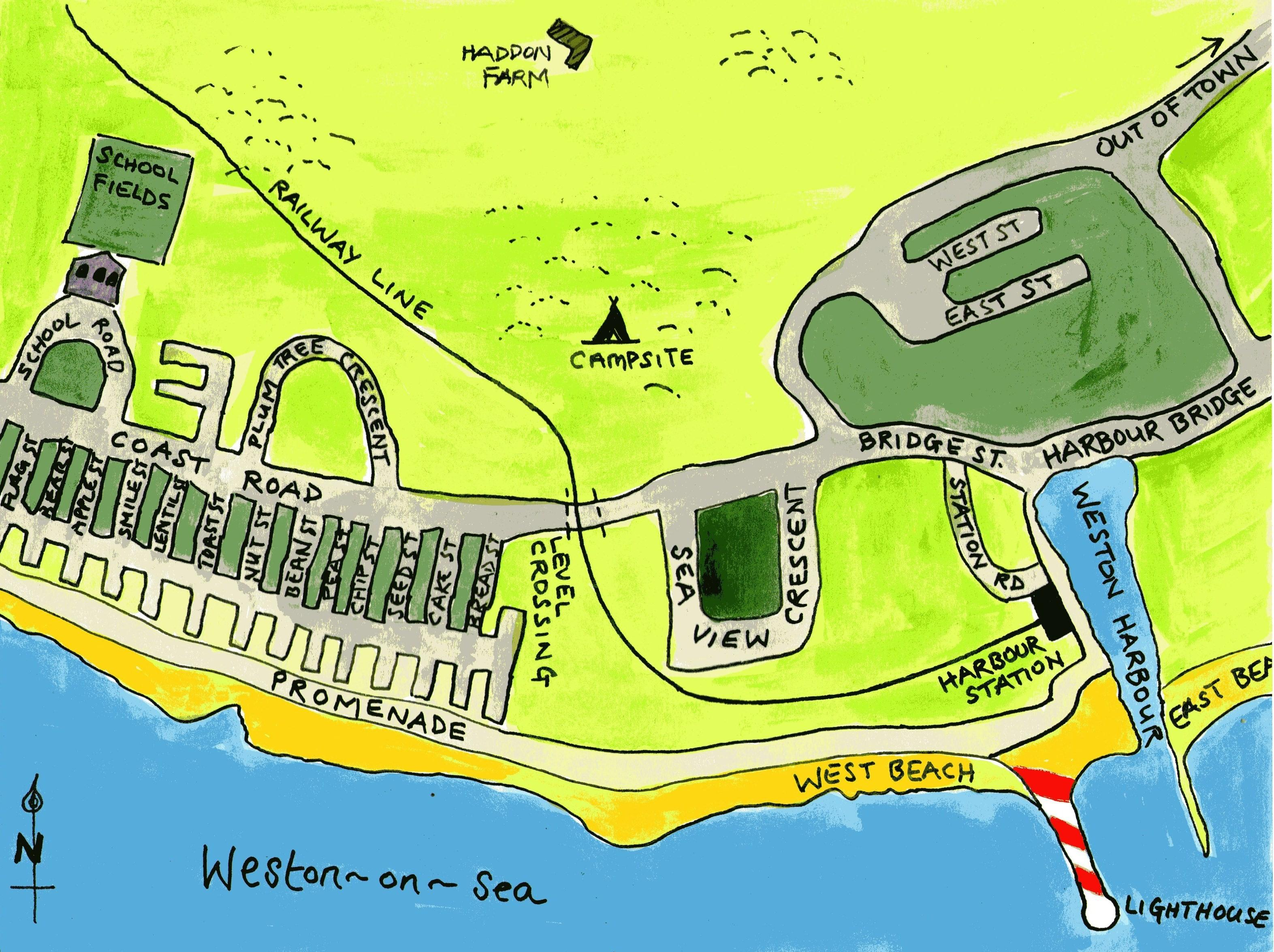 This is Venus's home town, Weston-on-sea