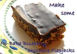 no bake blueberry chocolate flapjack
