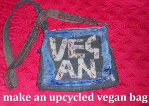 vegan upcycled bag