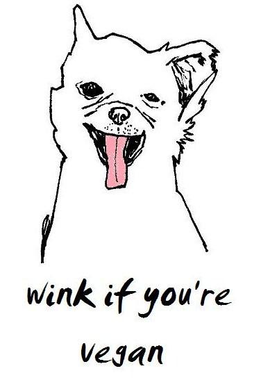 wink if you're vegan