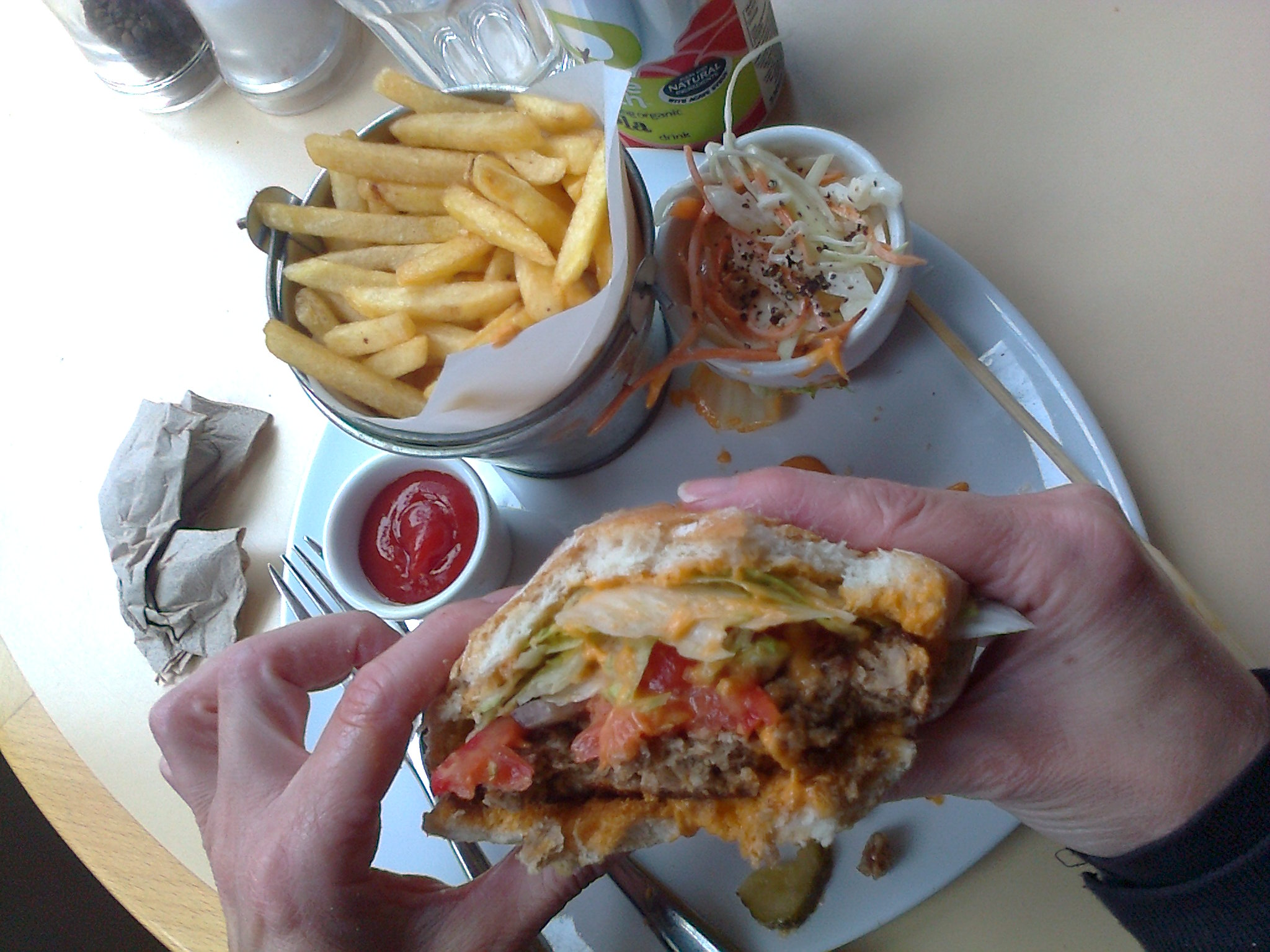 vegan burger from VBites