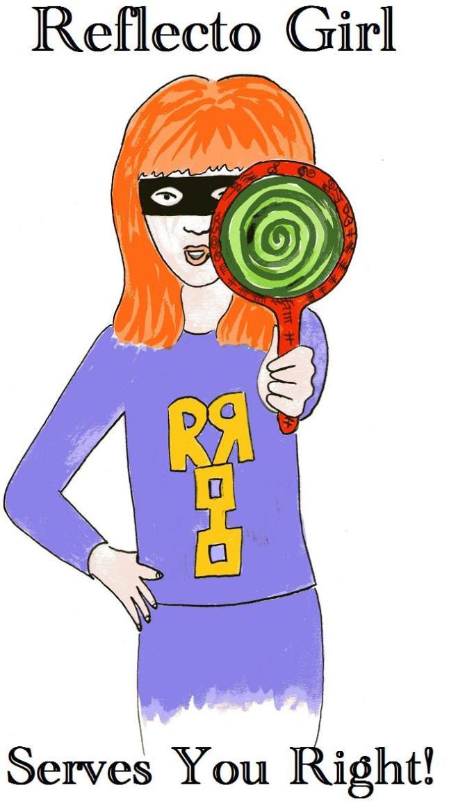Reflecto Girl - vegan comic