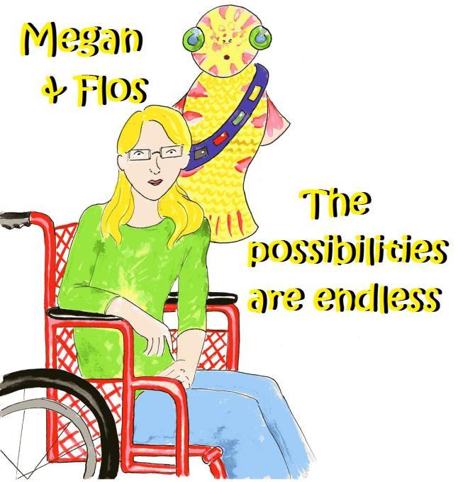 Megan and Flos - vegan comic