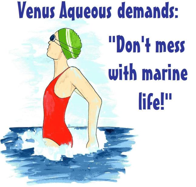 don't mess with marine life