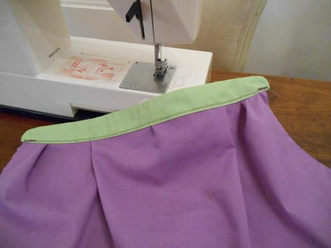 7 sew waist band on