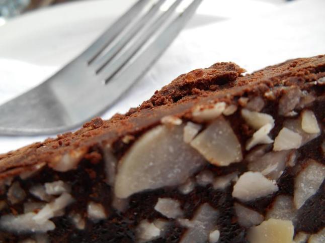 Infinity Foods cafe raw chocolate cake