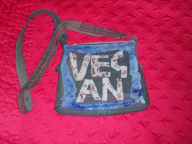 vegan upcycled bag