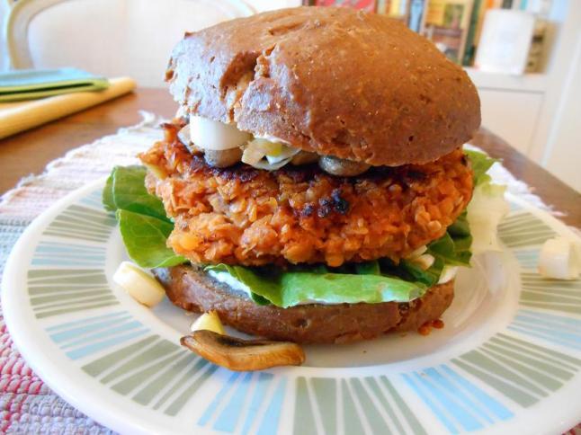Darren's lentil burger