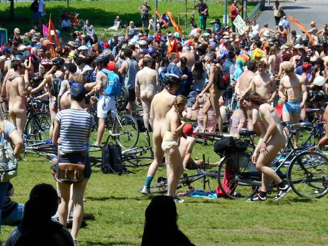 Brighton Level pre naked bike ride 2014