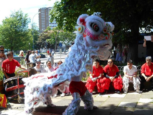 Lion Dance Crawley team