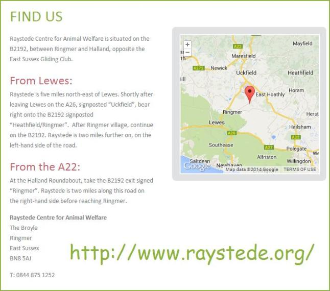 Raystede map