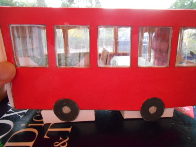 Then I re-closed the outside of the bus and slotted it over the inside.