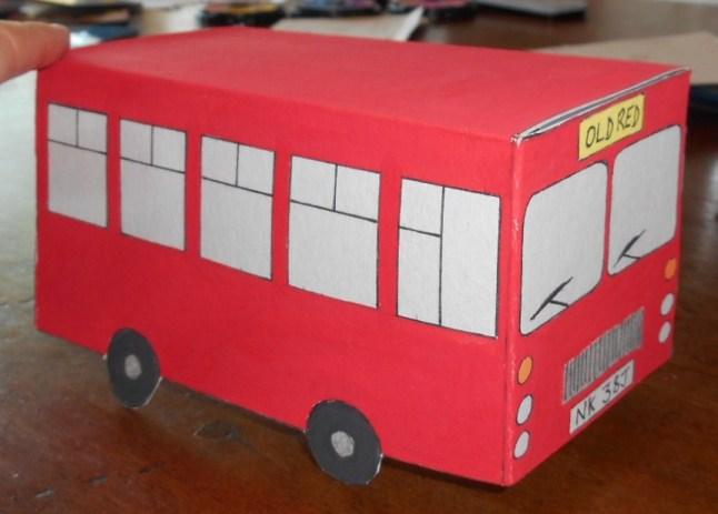 cardboard bus