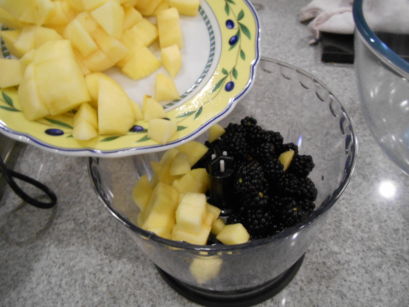 blackberries and apples in first