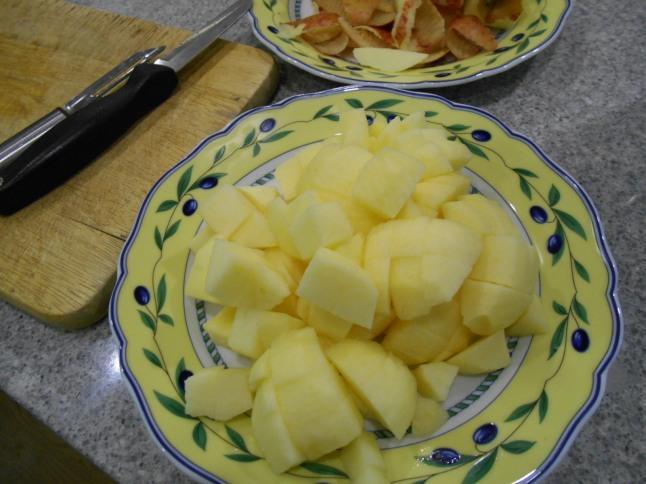 chopped apple