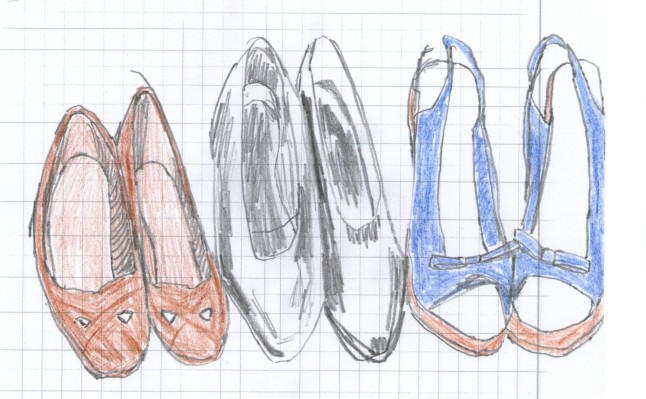 shoes drawing