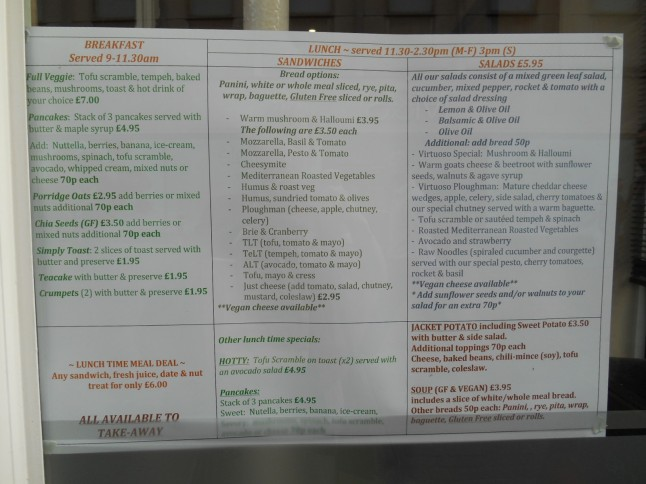 Here's a clearer look at the menu.