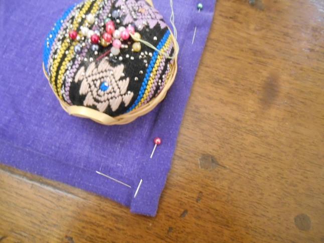fold, pin and hem