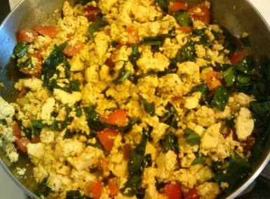 Spinach Tofu Scramble. Photo by Evelyn Oliver