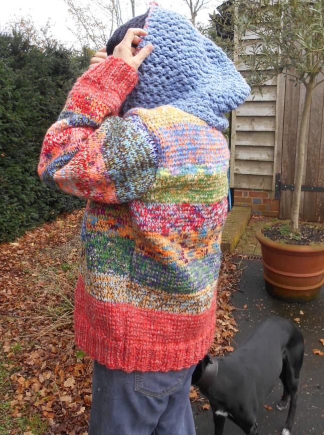 handknit  hoodie