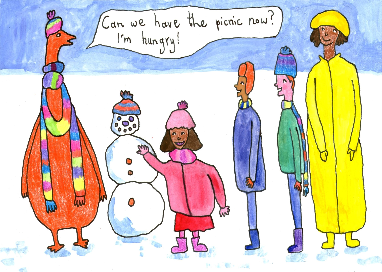 5 vegan children's Christmas story snow dinosaurs
