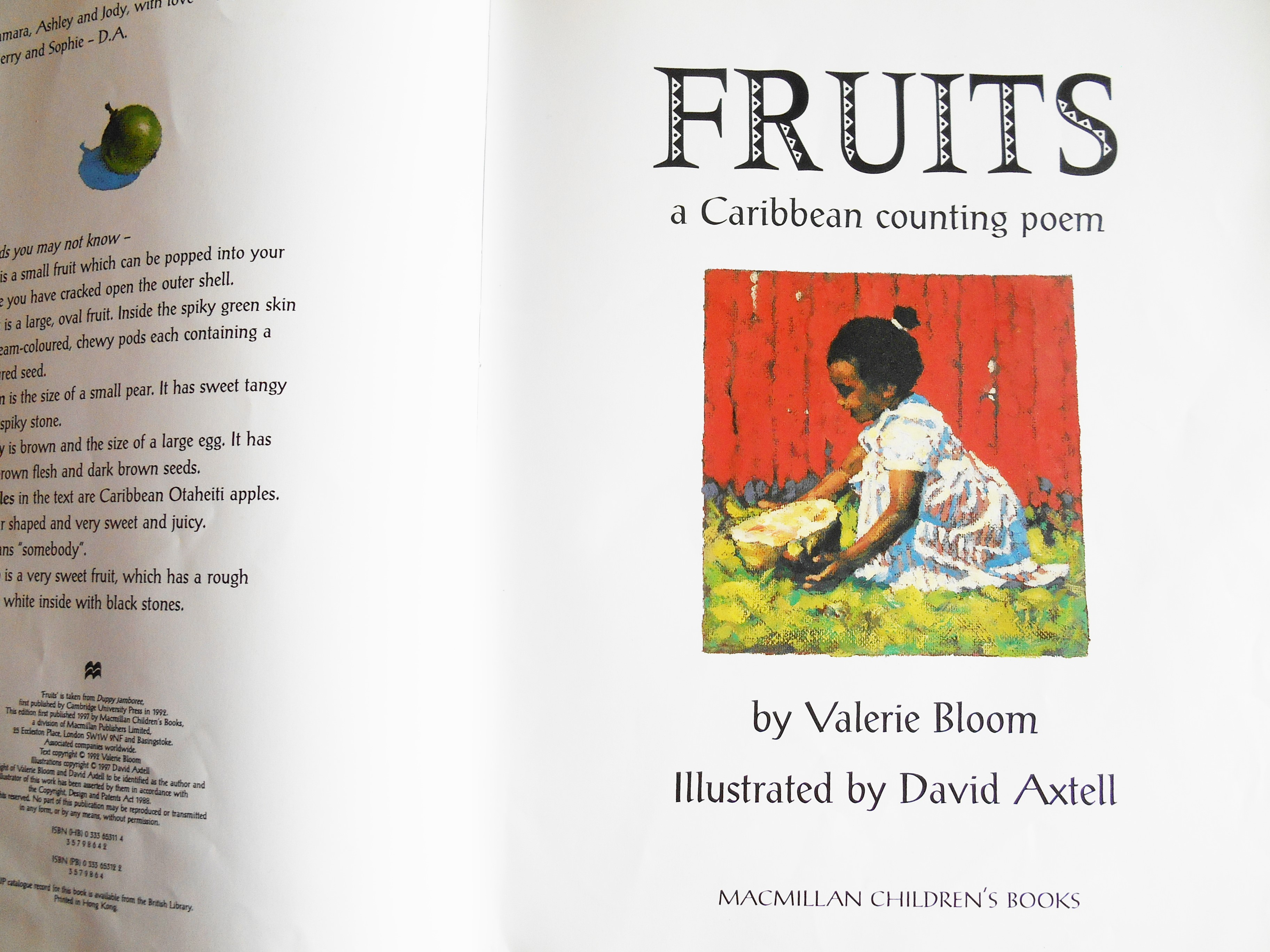 Fruits - a Caribbean counting poem