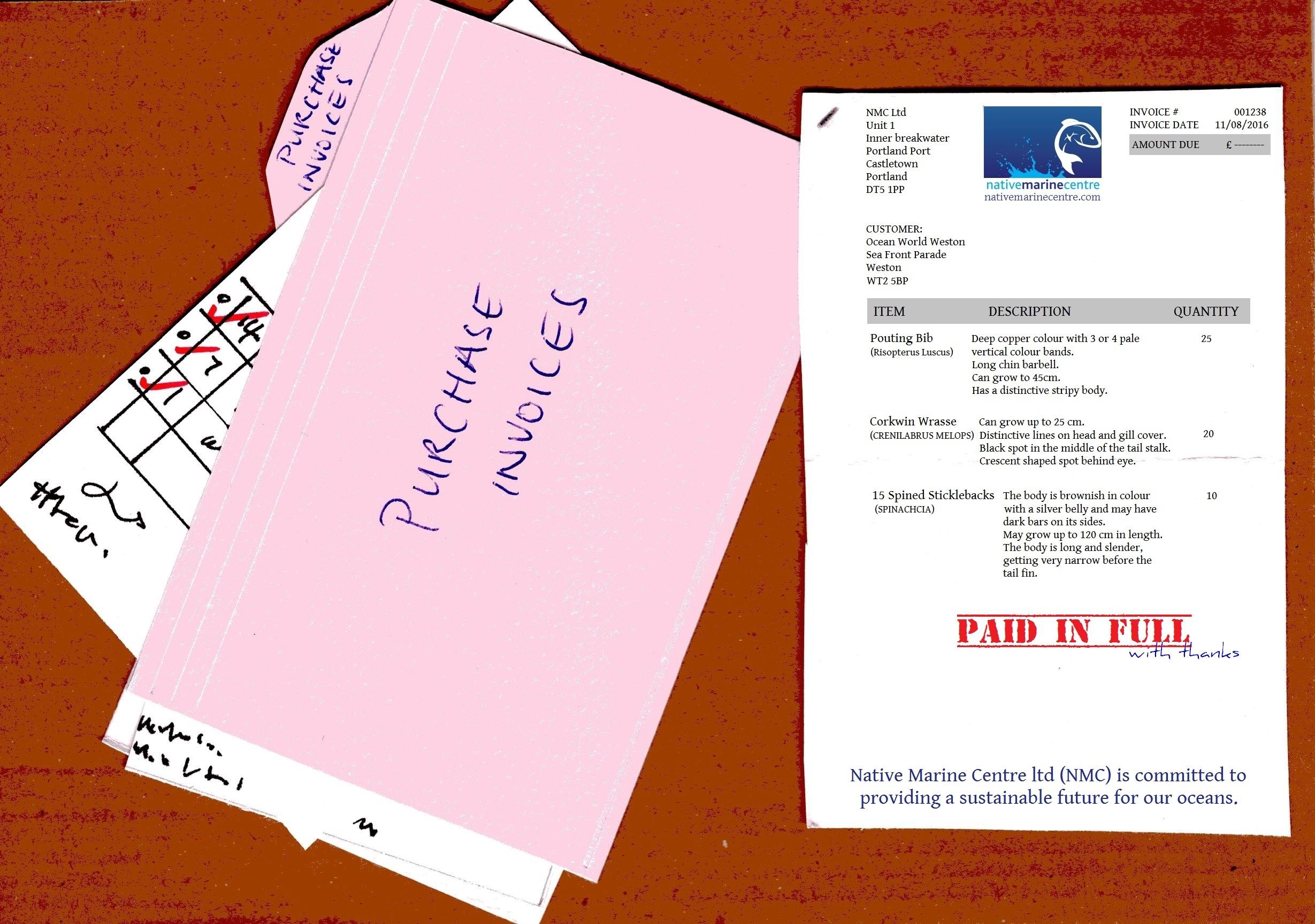 fish purchase invoice